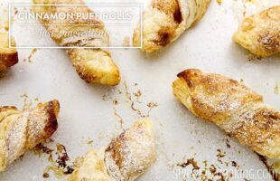 Cinnamon Puff Rolls - Only 3 Ingredients!