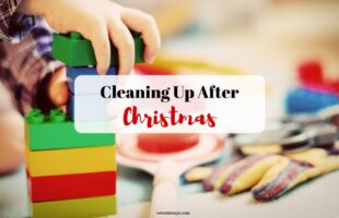 Check out some ways to make cleaning up after Christmas a little less daunting for everyone: www.orsoshesays.com #cleaningupafterchristmas #christmas #themagicoftidyingup #cleanup