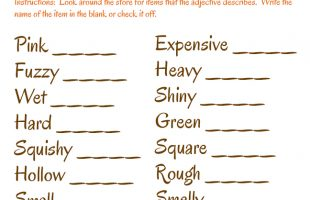 Grocery Store Games! ~ Adjectives Scavenger Hunt