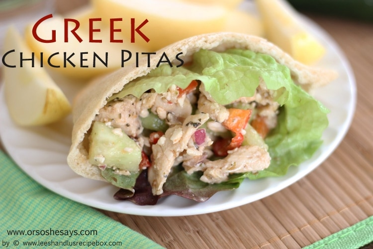Greek Chicken Pitas - So Delicious!