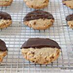 Pecan Sandies dipped in chocolate