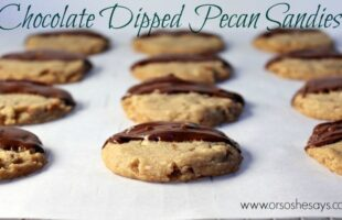 Chocolate Dipped Pecan Sandies