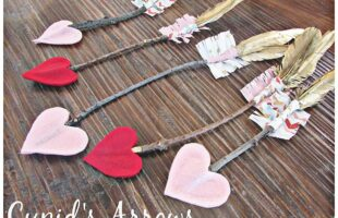 These Cupid's Arrows would be so fun to make with the kids for Valentine's Day! They're so easy too!! www.orsoshesays.com