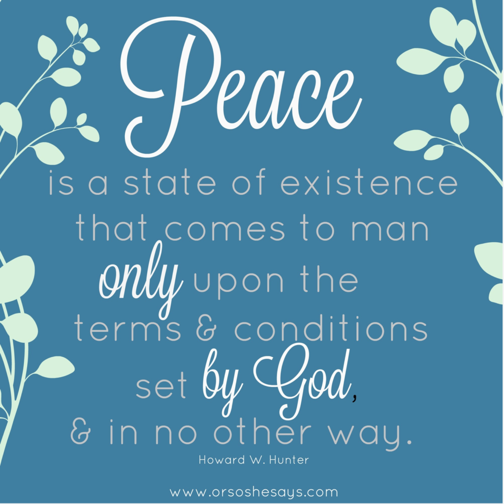 feeling peace from god