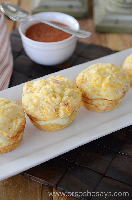 These Bacon and Egg Breakfast Muffins are a simple breakfast that the whole family will love! www.orsoshesays.com