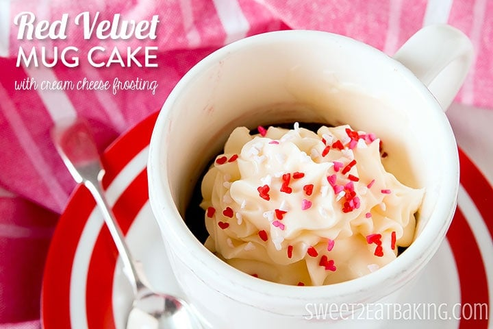 Red Velvet Mug Cake - A Perfect Valentine's Day Dessert
