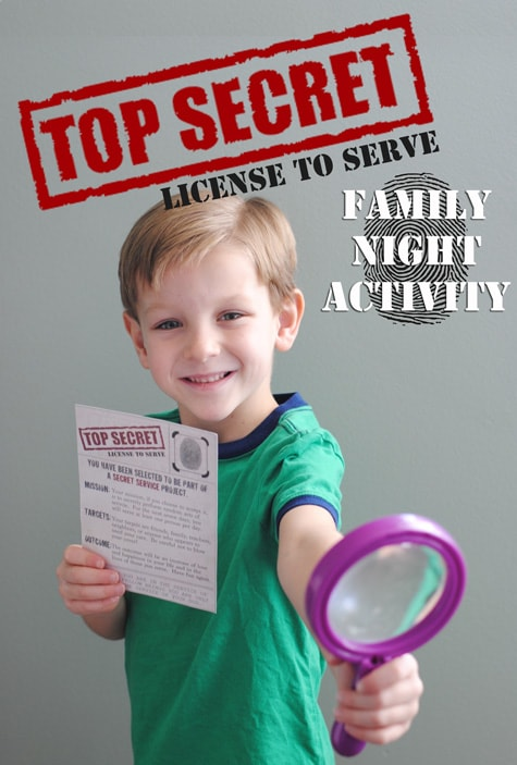 License to Serve ~ Family Night Lesson and Activity