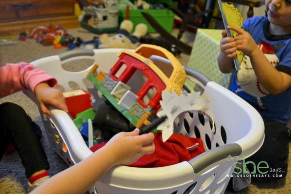 tricks-to-cleanup--with-children-laundry-basket