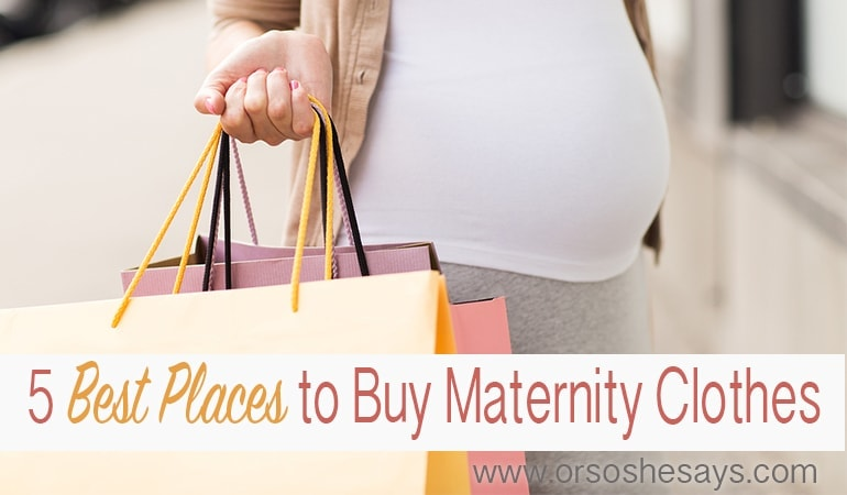 3. Buy Pre-owned Maternity Clothes. Many clothes from the thrift store can be extremely worn and tattered; however, I have had much luck finding maternity tops and pants that are barely used. Another great place to find pre-owned maternity clothing is through Craigslist, eBay, yard sales, and local consignment sales.