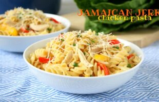 Jamaican Jerk Chicken Pasta (she: Mara)