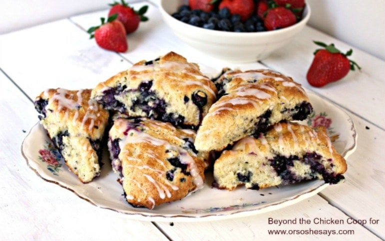 Blueberry Lemon Scones - a delicious idea for breakfast or brunch!