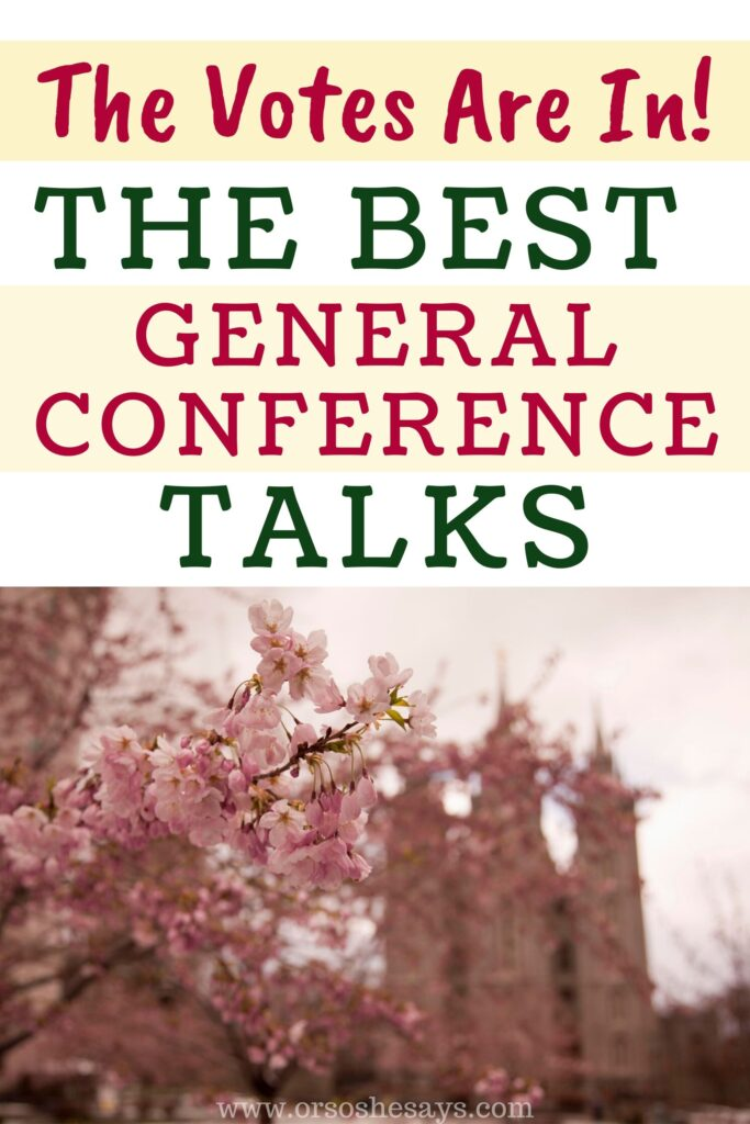 best general conference talks