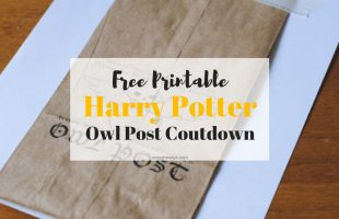 """Harry Potter Universal Studios - Send your family """"Owl Post"""" with a countdown to your family vacation! www.orsoshesays.com #harrypotter #universalstudios #HP #owlpost #free #printable #vacation #familyvacation #vacationcountdown"""