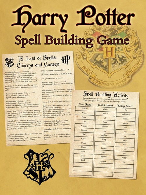 Irresistible image inside harry potter spell list printable