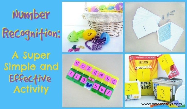 Number Recognition: A Super Simple and Effective Activity (she: Jessie)