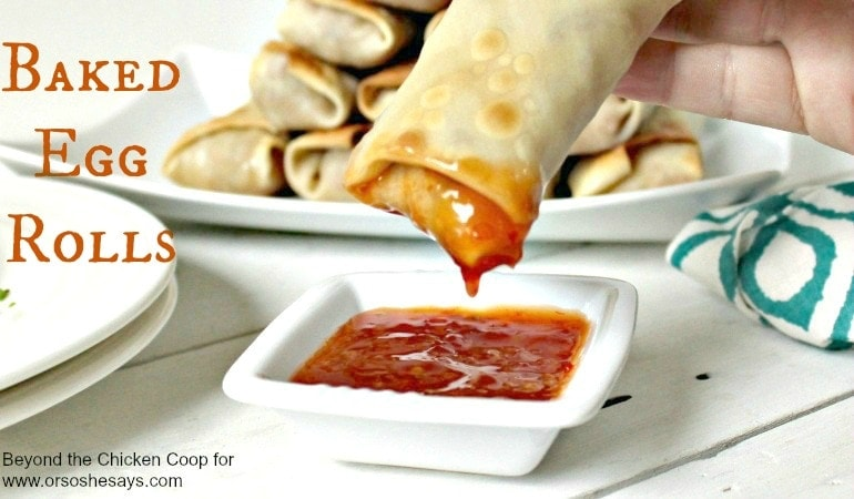 Baked Egg Rolls – Less Mess Than Frying! (she: Kathy)