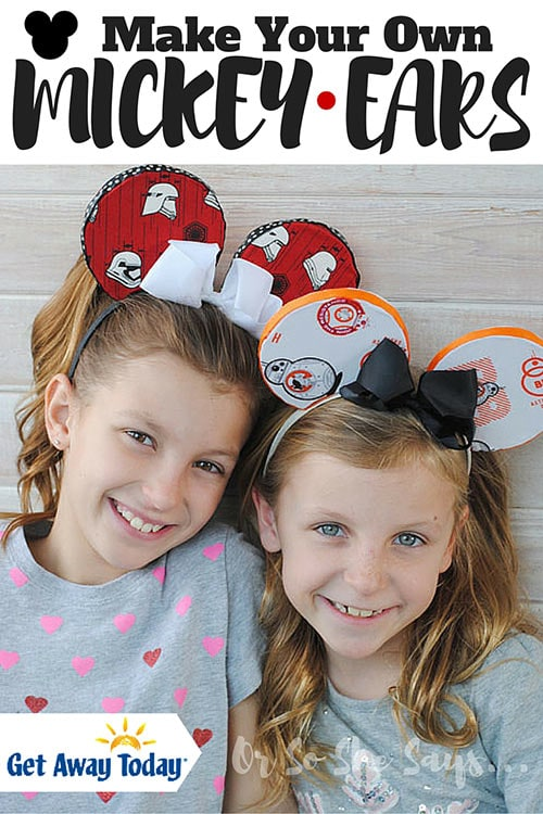 DIY Mickey Ears - Make Your Own Mickey Ears and Save Yourself a FORTUNE!