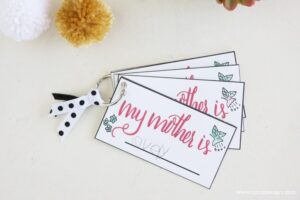 This Mother's Day printable is a simple card that reads,
