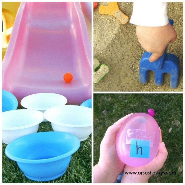 5 Creative Outdoor Games Featuring the ABCs - See Jessies ideas today!