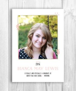 Boho Graduation Announcement
