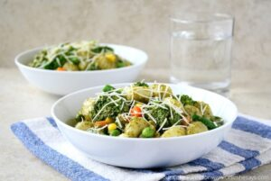 Gnocchi Recipe – With Creamy Pesto and Veggies (she: Mara)