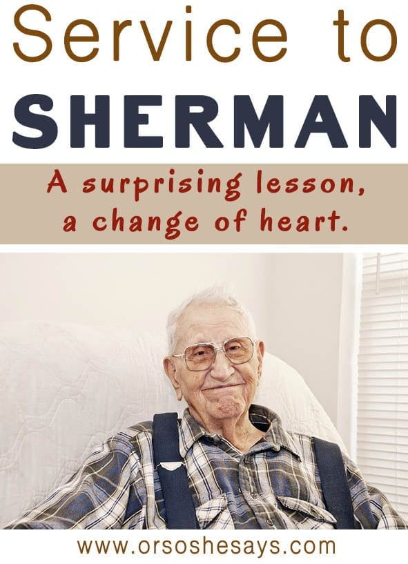 Service to Sherman ~ A Surprising Lesson, A Change of Heart (he: Dan)