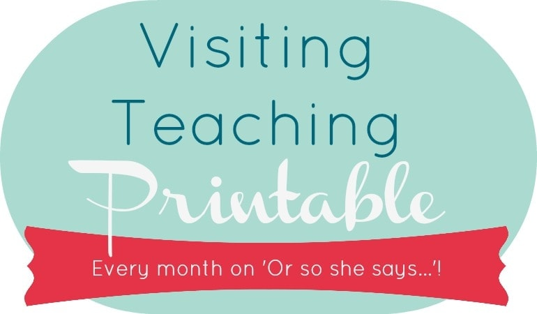 August 2017 Visiting Teaching Message - Get the free printable at www.orsoshesays.com