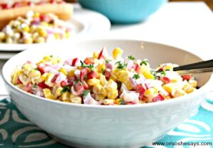 Corn Salad – Only 5 Ingredients for the Perfect Side Dish (she: Kathy)