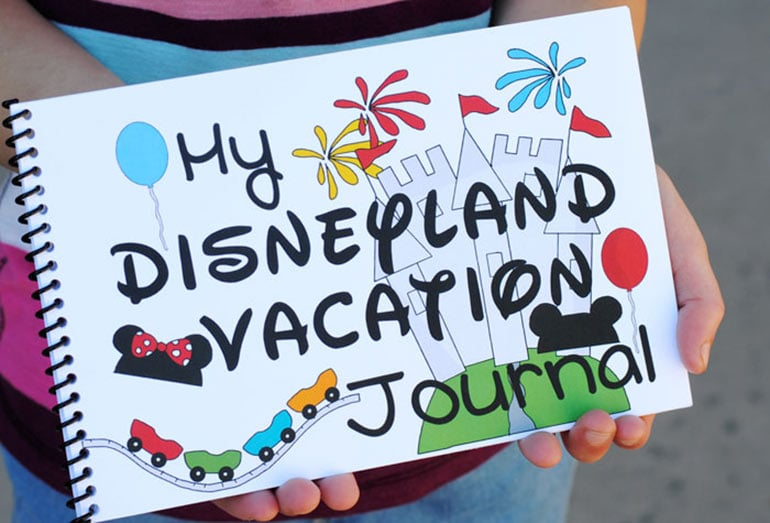 Make a Disneyland Vacation Journal so the kids can preserve all the memories you create on your family vacation!