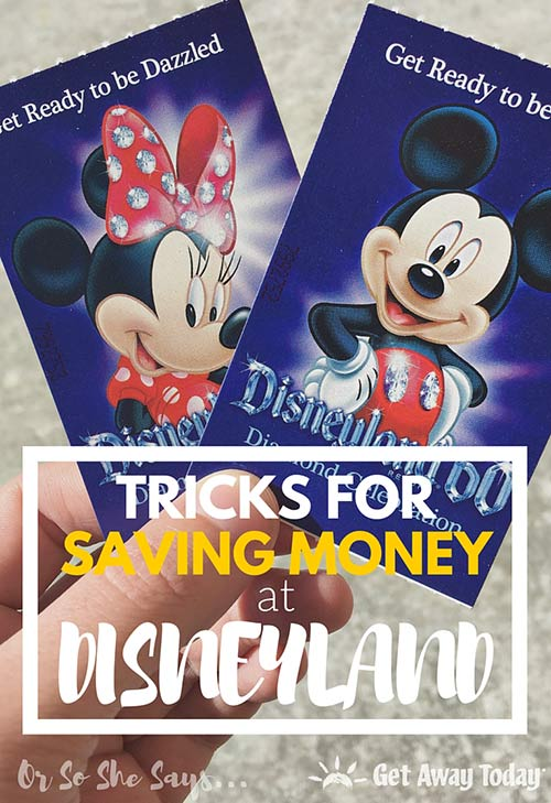 Tricks for Saving Money at Disneyland - From a real pro! Find the list at www.orsoshesays.com.