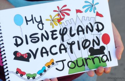 If you'd like to preserve all the memories from your next family vacation, make a Disneyland Journal using free templates so the kids can fill it out! www.orsoshesays.com #disney #disneyland #vacation #journal #disneyvacation #disneylandvacation #disneyjournal #disneyprintable #free #family #familyvacation