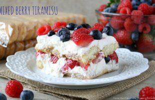 Mixed Berry Tiramisu- A Fresh, Summery Take on a Classic (she: Mara)