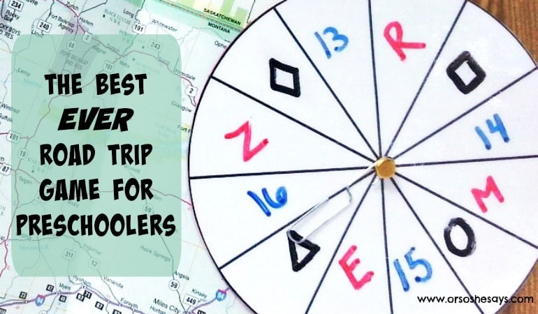 The Best EVER Road Trip Game for Preschoolers (she: Jessie)