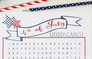Entertain the kids at your 4th of July get together with this fun free printable 4th of July word search.