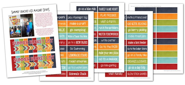Whether you're ready or not, school is out for summer! Colette has prepared a printable summer bucket list with boredom busters to keep the kids from making you crazy! Get it free on www.orsoshesays.com.