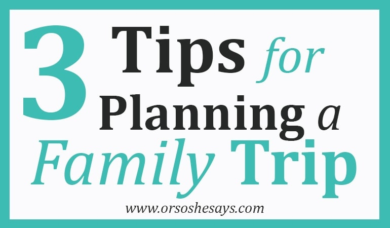 3 Tips for Planning a Family Trip This Summer (she: Liv)