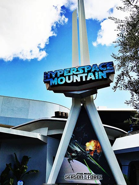 Hyperspace Mountain at Disneyland this Summer