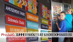 Printable Summer Bucket List + Boredom Busters (she: Colette)