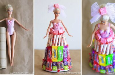 barbie candy cake