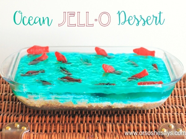 This ocean Jello Dessert is the perfect addition to your next summer party - Whether you're watching
