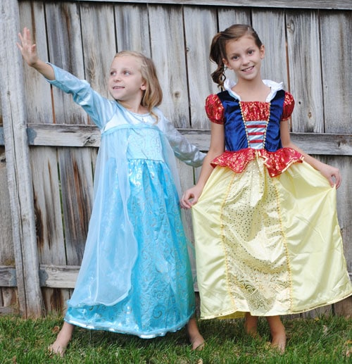 Glowing Halloween Costumes are a great way to add a little extra safety to a spooky night! See how you can transform an existing dress-up into something glowy in today's post.