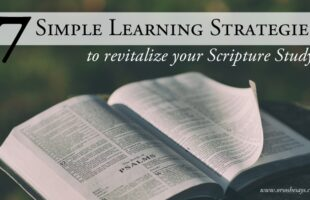 7 Simple Learning Strategies for Scripture Study - Today Rachel is sharing some ideas for helping young families make the most of their scripture study. After all, what's the point of reading together if no one ever learns anything? See the strategies on www.orsoshesays.com.