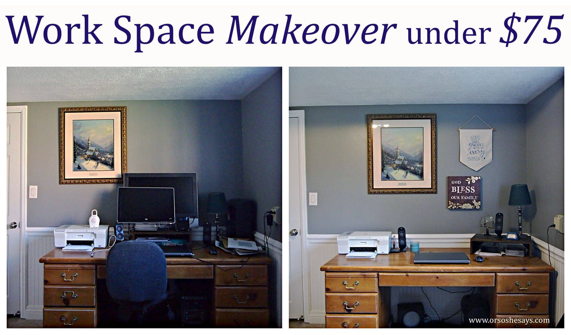 Work Space Makeover for Under $75! (she: Liv)