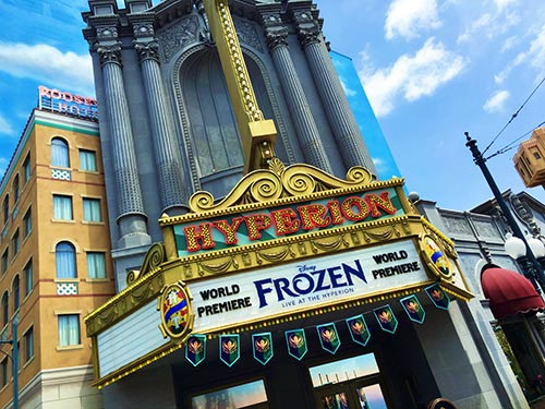 Disneyland Changes New Frozen Live at the Hyperion
