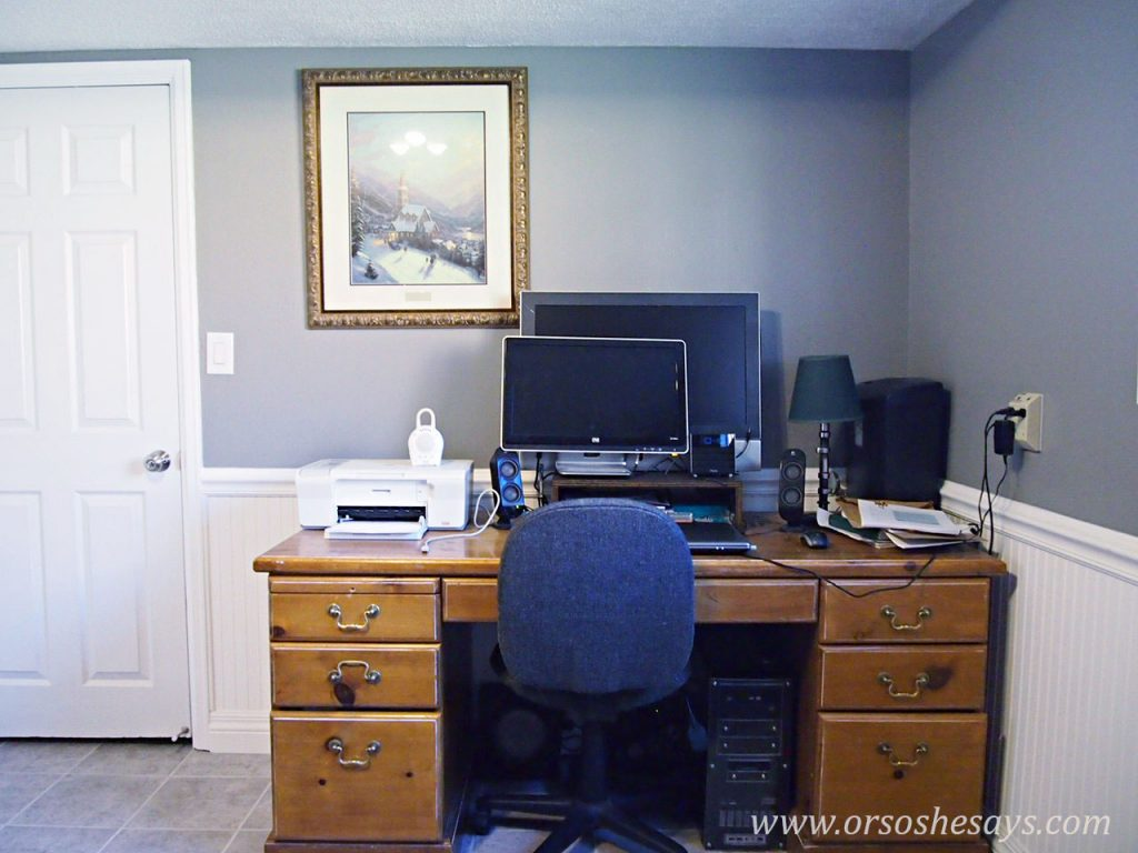 Work Space Makeover for under $75 BEFORE
