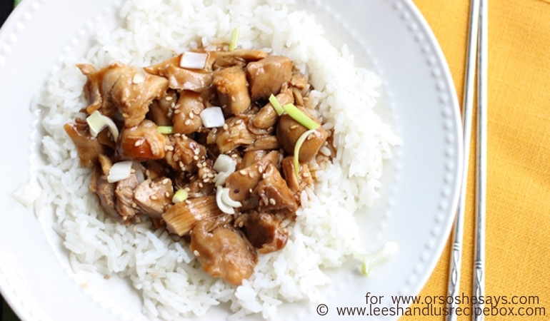 Teriyaki Chicken – A Perfect No Fuss Meal for Back to School (she: Leesh & Lu)