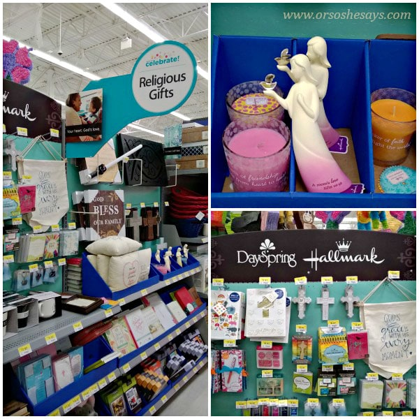 There's a great selection of DaySpring Christian Celebrations products available at select Walmart stores.