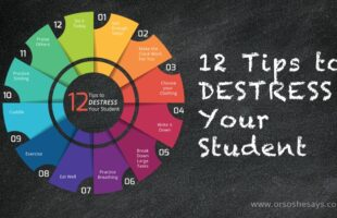 School is in full-swing and your kids may be feeling the pressure by now. Check out the blog today for 12 tips to destress your student! Help them be successful before they're too overwhelmed to do well! Find all the info at www.orsoshesays.com.