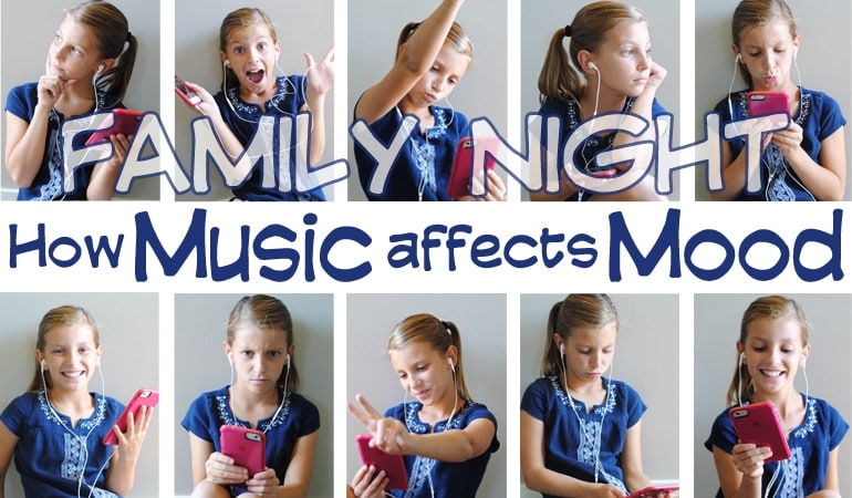 Have you ever thought about how music affects your family? This Family Night lesson is geared toward understanding how music affects mood. Get all the lesson ideas on www.orsoshesays.com.