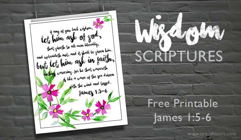 Wisdom Scriptures